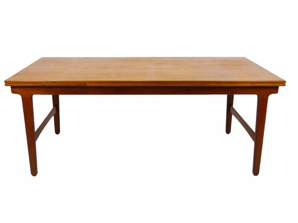 Danish Modern Teak Expandable Draw Leaf Extension Dining Table 2