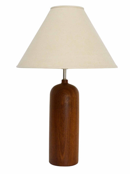 Danish Modern teak table lamp mid century 1