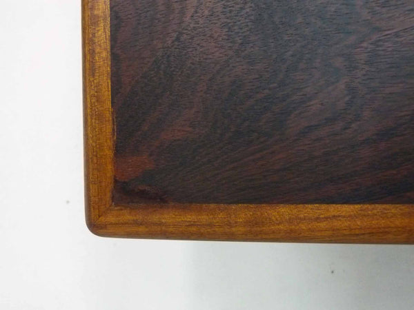 Danish Modern square rosewood draw leaf dining table 10
