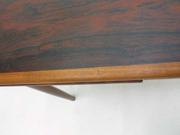 Danish Modern square rosewood draw leaf dining table 11