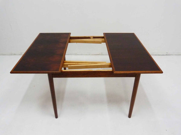 Danish Modern square rosewood draw leaf dining table 12