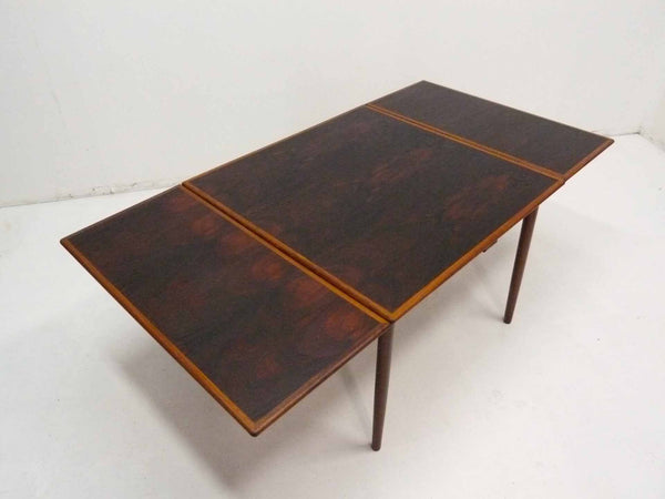 Danish Modern square rosewood draw leaf dining table 2
