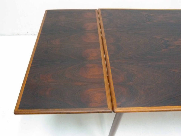 Danish Modern square rosewood draw leaf dining table 5