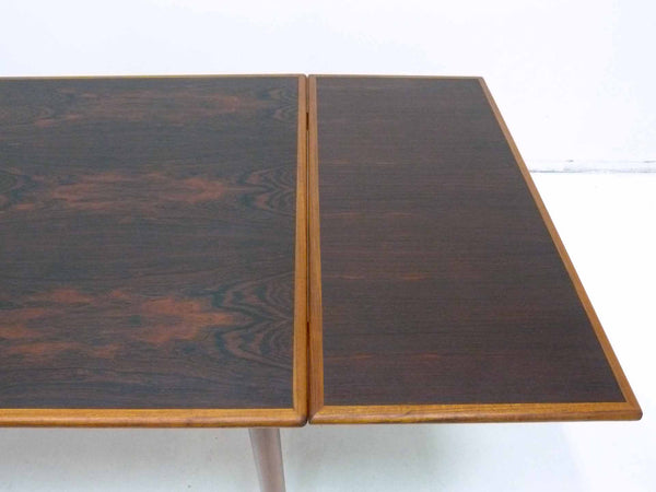 Danish Modern square rosewood draw leaf dining table 6