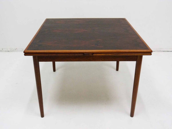 Danish Modern square rosewood draw leaf dining table 7