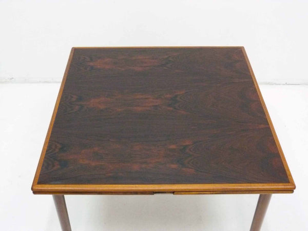 Danish Modern square rosewood draw leaf dining table 8