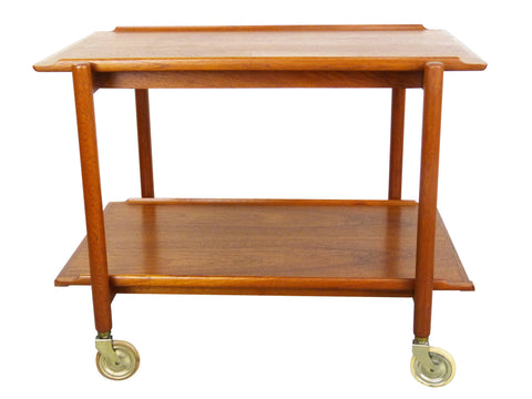 Poul Hundevad PH 38/2 Teak Bar Expand Seving Cart 1