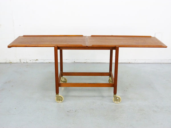 Poul Hundevad PH 38/2 Teak Bar Expand Seving Cart 2