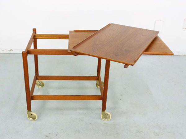 Poul Hundevad PH 38/2 Teak Bar Expand Seving Cart 3