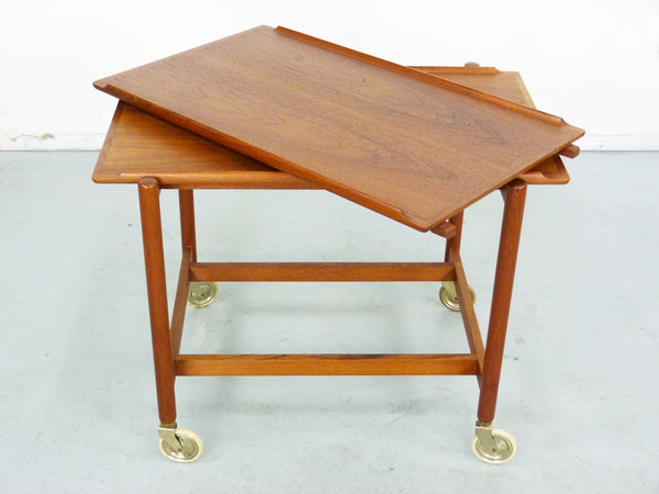 Poul Hundevad PH 38/2 Teak Bar Expand Seving Cart 4