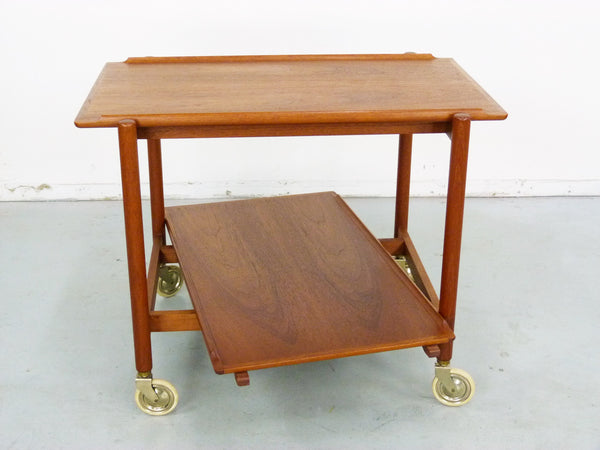 Poul Hundevad PH 38/2 Teak Bar Expand Seving Cart 5