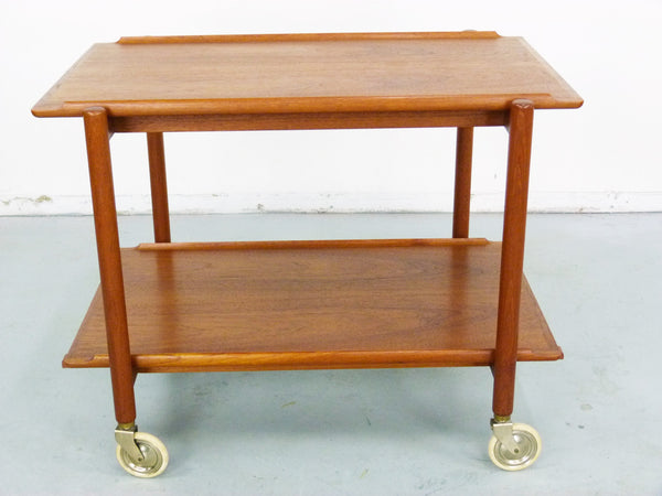 Poul Hundevad PH 38/2 Teak Bar Expand Seving Cart 6