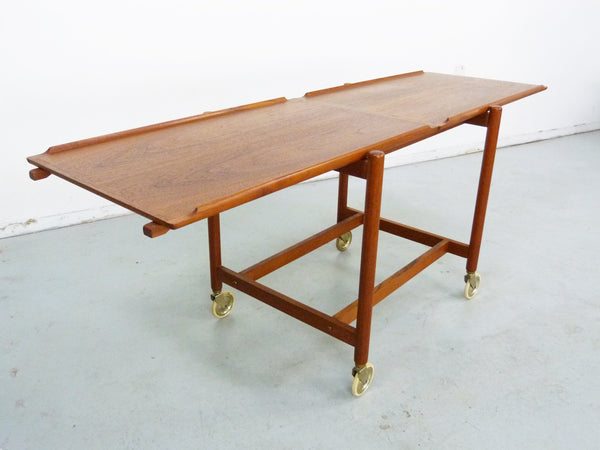 Poul Hundevad PH 38/2 Teak Bar Expand Seving Cart 7
