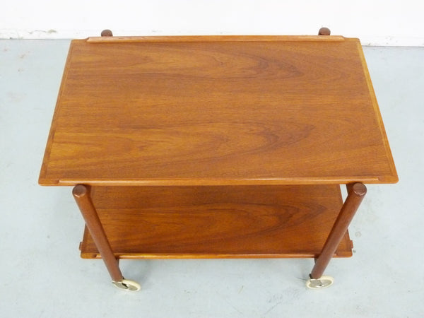 Poul Hundevad Teak Bar Cart Danish Expandable Img 9