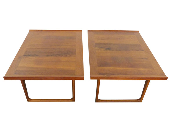 Danish Modern solid teak side end tables Img 1