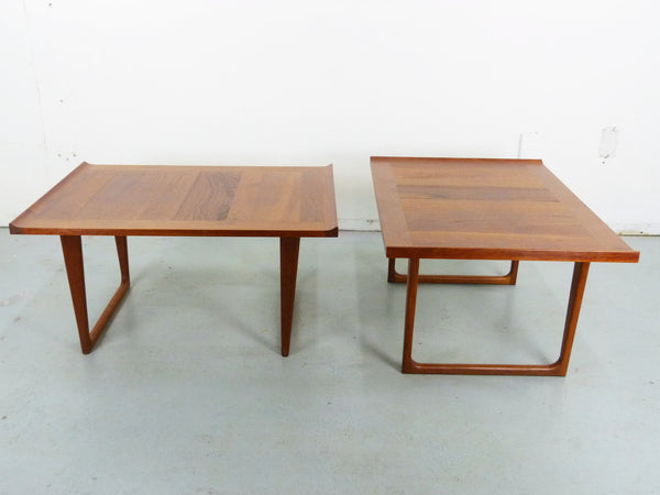 Danish Modern solid teak side end tables Img 2