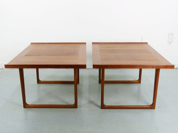 Danish Modern solid teak side end tables Img 3