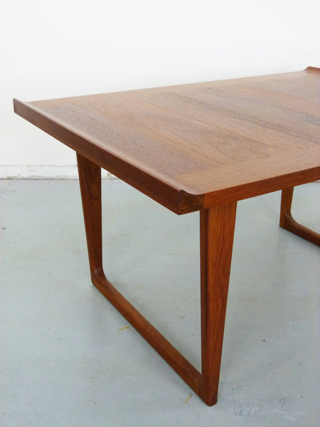 Danish Modern solid teak side end tables Img 5