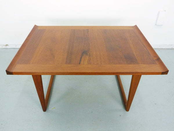 Danish Modern solid teak side end tables Img 6