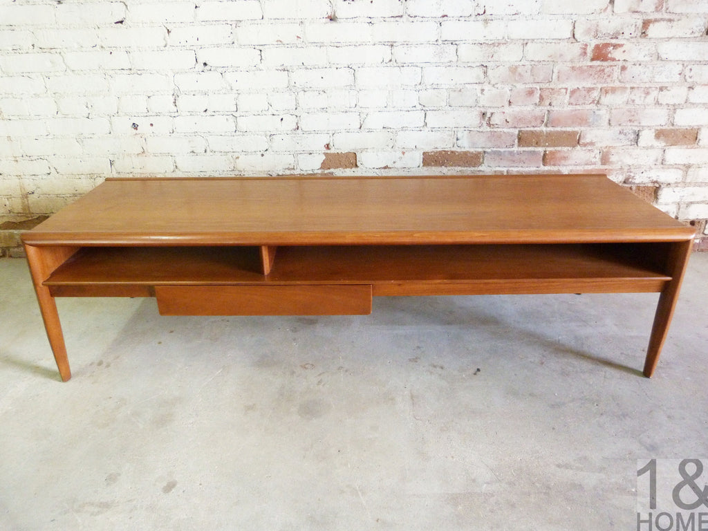 Drexel parallel mid century modern coffee table by barney flagg drexel parallel mid century modern coffee table by barney flagg 2 geotapseo Image collections