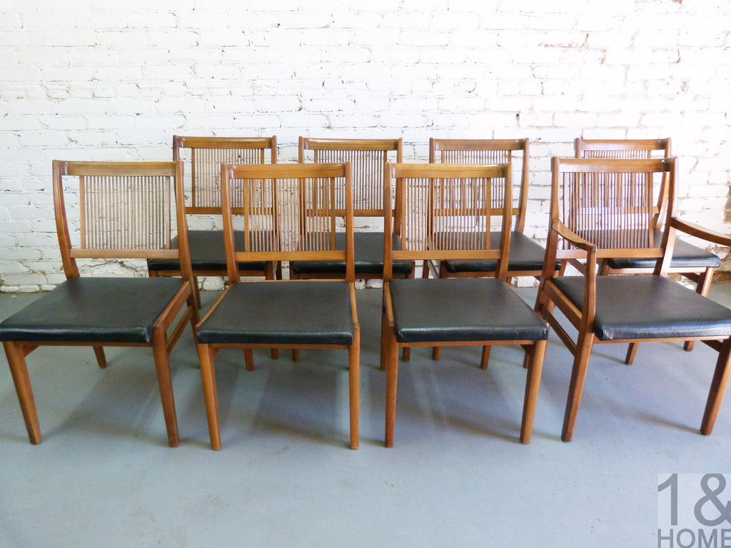 Drexel Mid Century Modern Dining Chairs S 8