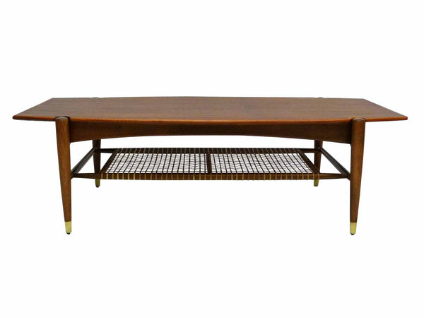Dux Teak Cane Shelf Coffee Table Folke Ohlsson 1