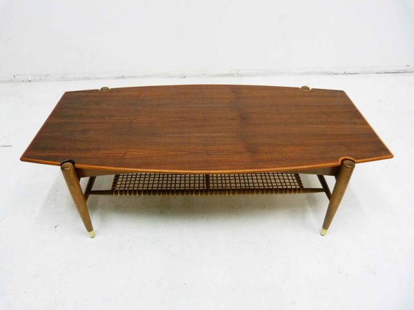 Dux Teak Cane Shelf Coffee Table Folke Ohlsson 2