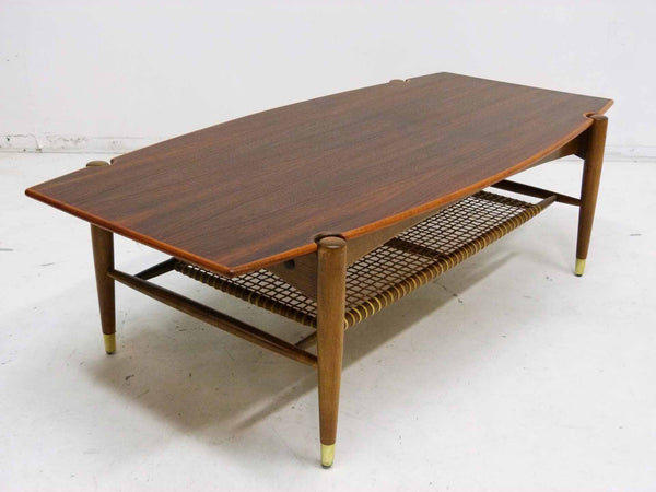 Dux Teak Cane Shelf Coffee Table Folke Ohlsson 4