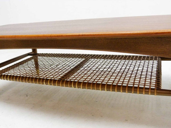 Dux Teak Cane Shelf Coffee Table Folke Ohlsson 5