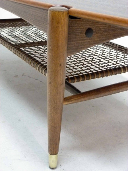 Dux Teak Cane Shelf Coffee Table Folke Ohlsson 7