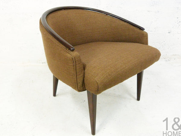 Pair of Mid-Century Modern Barrel Lounge Chairs Edward Wormley 4