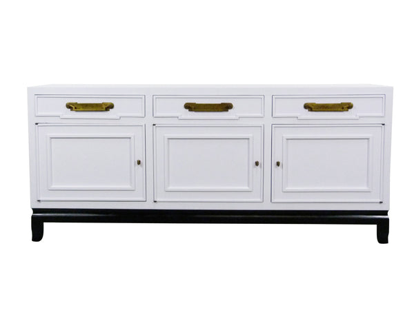 Fancher Vintage White Enamel black lacquer Chinoiserie Sideboard Img 1