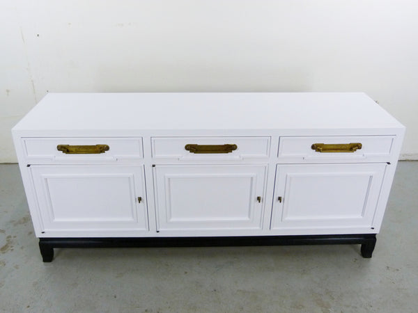 Fancher Vintage White Enamel black lacquer Chinoiserie Sideboard Img 3