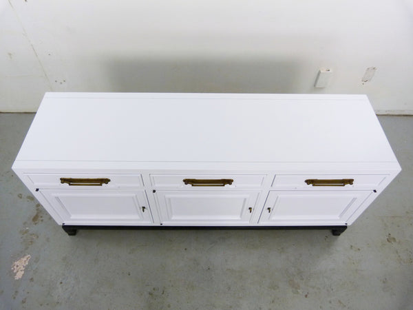 Fancher Vintage White Enamel black lacquer Chinoiserie Sideboard Img 5