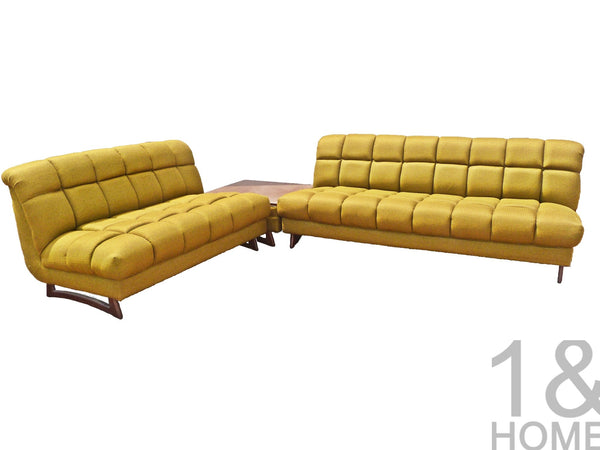 Green Sectional Sofa in the Manner of Adrian Pearsall