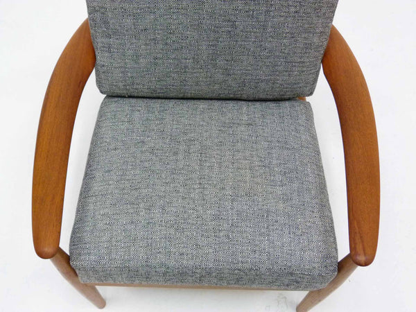 Grete Jalk for France & Son Danish Modern Teak Lounge Chair 7
