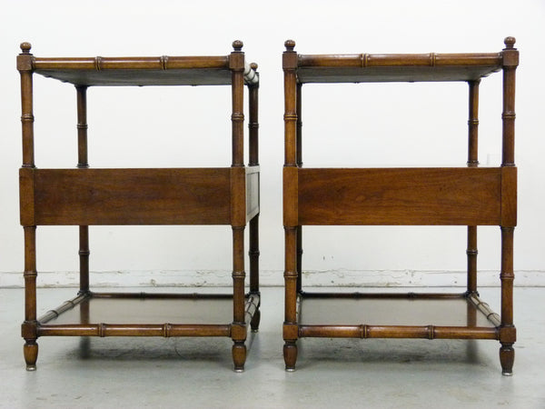 Vintage Henredon Faux-Bamboo Campaign Side Tables Img 6