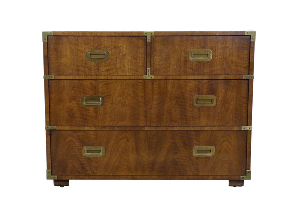 Vintage Henredon Campaign-Style Dresser Chest Img 1