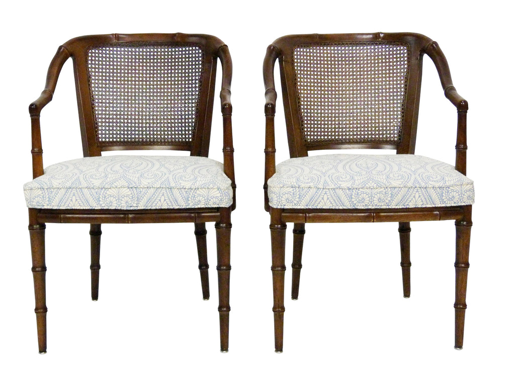 Henredon Faux Bamboo Cane Side Chair Armchairs 1
