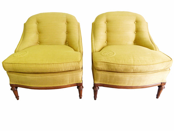 1950s Heritage Morganton Regency Slipper Chairs