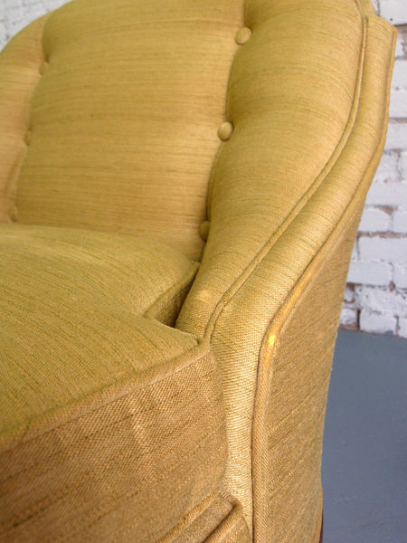 Chartreuse 1950s Heritage Morganton Slipper Chairs, Pair