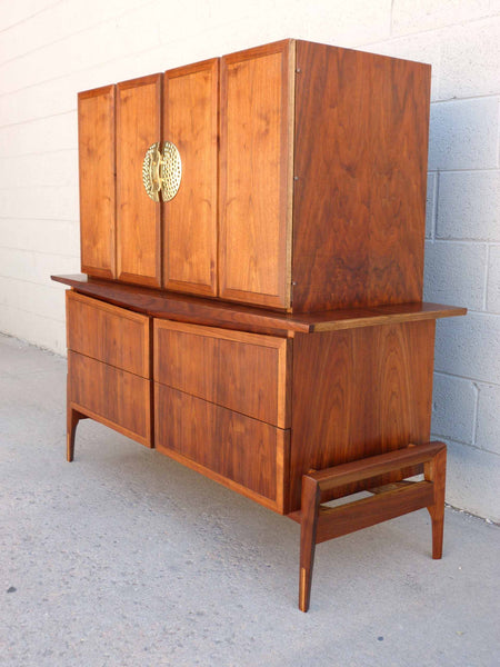 Hobey Helen Baker Walnut Asian Style Dresser Chest Mid-Century 2