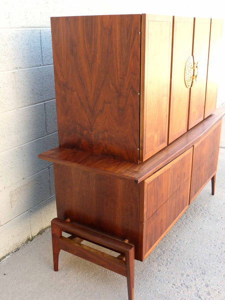 Hobey Helen Baker Walnut Asian Style Dresser Chest Mid-Century 6