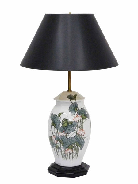 Japanese Ginger Jar Poppy Table Lamp 1