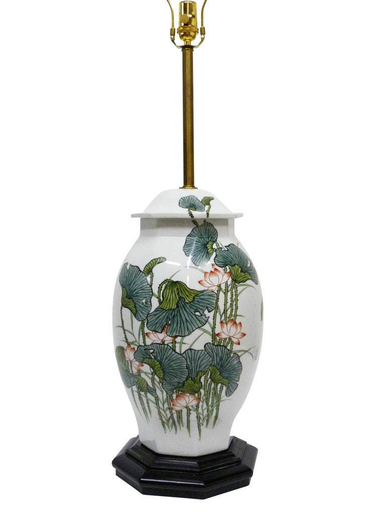 Japanese ginger jar poppy table lamp oneandhome japanese ginger jar poppy table lamp 2 geotapseo Gallery
