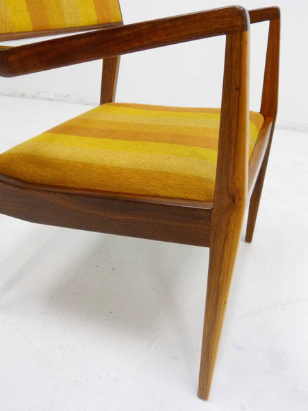 Jens Risom Walnut Playboy Chair C140 C142 Mid Century Danish Modern 10