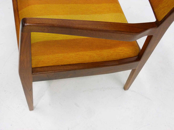 Jens Risom Walnut Playboy Chair C140 C142 Mid Century Danish Modern 11