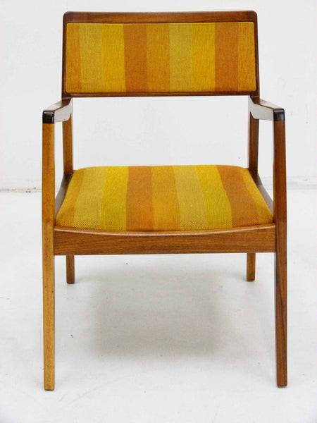 Jens Risom Walnut Playboy Chair C140 C142 Mid Century Danish Modern 3