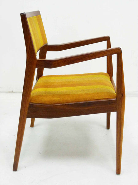 Jens Risom Walnut Playboy Chair C140 C142 Mid Century Danish Modern 4