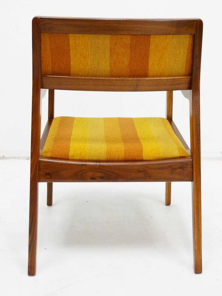 Jens Risom Walnut Playboy Chair C140 C142 Mid Century Danish Modern 6